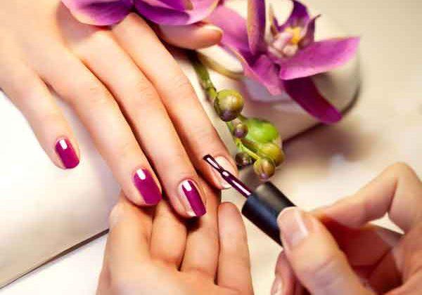 Nail painted