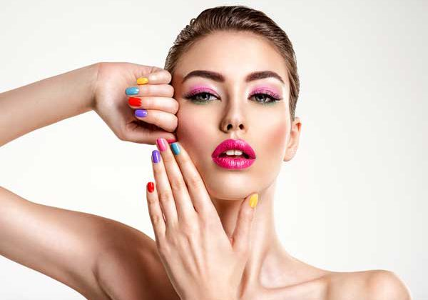 Women with beautiful nails